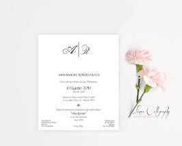 "Invito SINGOLO - DESIGN 4 ""Calligraphy"""