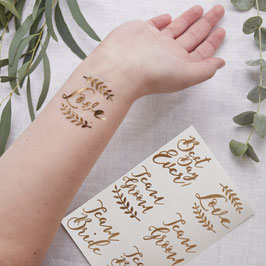 Wedding Tattoos - temporanei (12pz)