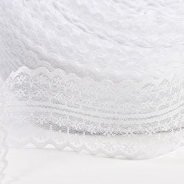 Nastro in pizzo Bianco 40mmx9mt
