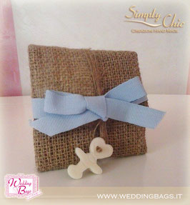 "Fagotto Baby in Juta c/nastro ""Simply Chic"""