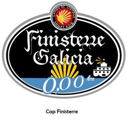 Camino-Sticker Finisterre 0,00 km und Buen Camino