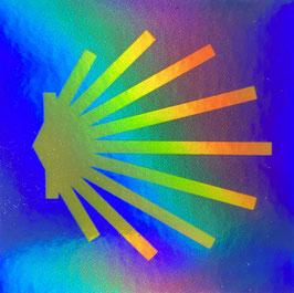 Hologramm Muschel-Sticker