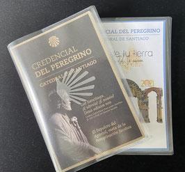 Schutzhülle Credencial/ Pilgerausweis. Schutz vor Feuchtigkeit und Schmutz für unterwegs...