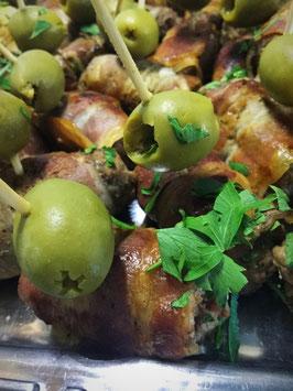 Hackfleischröllchen mit Olive
