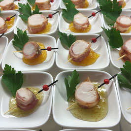 Hähnchenbrust in Pancetta