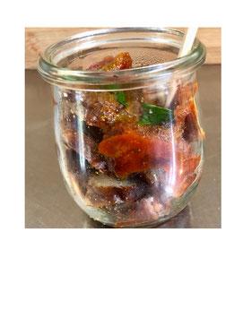 Currywurst im Gläschen