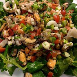 Salat von Meeresfrüchten