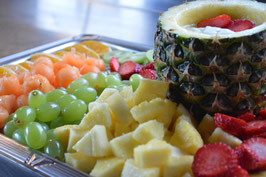 Meetingplatte Früchte