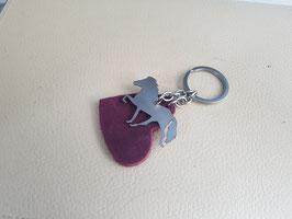 Schlüsselanhänger, Edelstáli und Herz