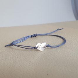 Zartes Armband mit Herz aus 925 Silber