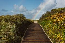 Regenbogen im Sand