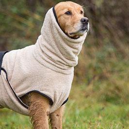 Hundebademantel aus Baumwoll-Frottee