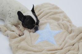 Kuscheltraum Hundedecke/Welpendecke mit Stern