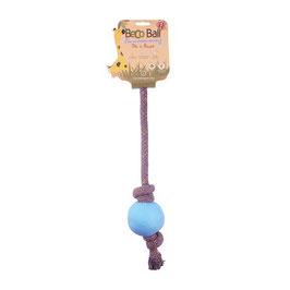 Beco Ball Hundespielzeug mit Seil und Vanille Duft