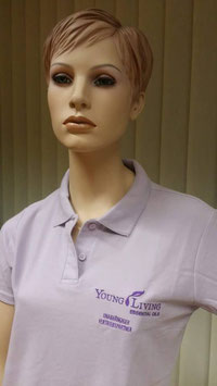 Polo Shirt  Young Living -hell  Lavendel  Damenschnitt