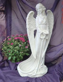 Polystone Engel mit Vogeltränke