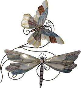 Schmetterlinge aus Metall mit Perlglanzlasur