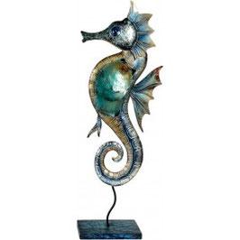 Dekofigur Seepferdchen blau