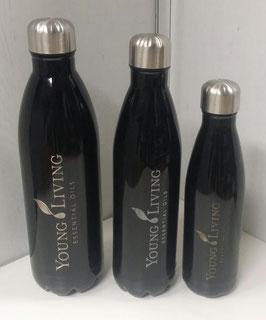 Thermo Trinkflasche 1000ml glänzend  schwarz