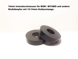 VESPA GT GTS GTV 125 200 250 300 - Set Lagerung VORNE für BGM / BITUBO mit 14mm Kolbenstange/Aufnahme!