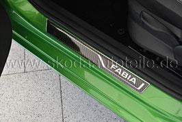 """Einstiegsleisten 3D """"FABIA"""" Carbon - original - SKODA FABIA III"""