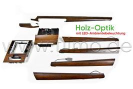"""SET Dekorleisten """"Holz"""" mit LED-Ambientebeleuchtung - original - SKODA SUPERB III FL"""