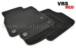 SET Fußmatten Velours VRS RED  - original -SKODA OCTAVIA III RS (5E)