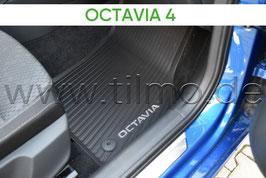 SET Gummifußmatten (vorne+hinten) GREY - original - SKODA OCTAVIA IV (NX)