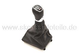 L&K Schaltknauf 6-Gang 4x4 (Leder mocca braun) NEW - original - SKODA SUPERB II (3T)