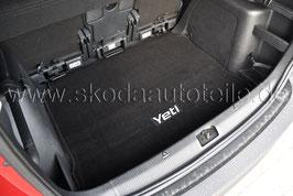Textilmatte für Kofferraum - original - SKODA YETI (5L) ohne Zwischenboden oder Reserverad