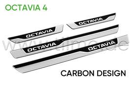 "Einstiegsleisten 3D Carbon look ""OCTAVIA"" - original - SKODA OCTAVIA IV (NX)"