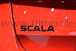 """BLACK Schriftzug Emblem Heckklappe """"SCALA"""" - original - SKODA SCALA"""
