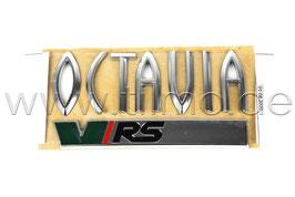 """RS Schriftzug Emblem Heckklappe """"OCTAVIA VRS"""" GRÜN - original - SKODA OCTAVIA I (1U)"""