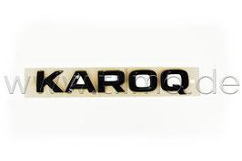 """BLACK Schriftzug Emblem Heckklappe """"KAROQ"""" - original - SKODA KAROQ"""