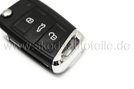 1x Schlüsselkappe Chrom - original - SKODA / VW
