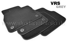 SET Fußmatten Velours VRS GREY  - original -SKODA OCTAVIA III RS (5E)