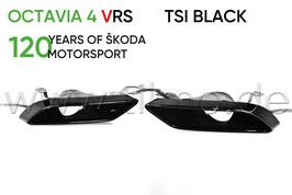 VRS TSI Endrohre Auspuffblende BLACK (L+R) - original - SKODA OCTAVIA IV RS (NX)