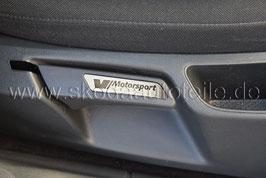 """Blende """"Motorsport"""" für Sitzverstellung Alu (L+R) - SKODA OCTAVIA II"""