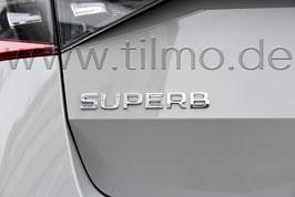 "Schriftzug Emblem Heckklappe ""SUPERB"" - Neues Modell KLEIN- original - SKODA SUPERB III (3V)"