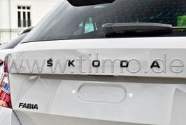 """BLACK Schriftzug Emblem Heckklappe """"SKODA"""" - original - SKODA FABIA"""