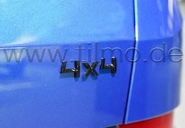 "BLACK Schriftzug Emblem Heckklappe ""4x4"" - original"