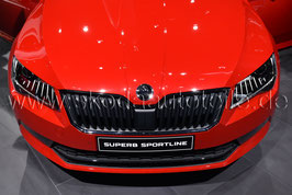 Kühlergrill + Leiste Sportline Black-Paket - original - SKODA SUPERB III (3V)