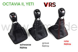 VRS Schaltknauf 6-GANG (LEDER/LEDER) - original - SKODA OCTAVIA II, YETI