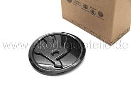 SKODA Emblem Logo BLACK (vorne) - original - SKODA OCTAVIA II, FABIA II, ROOMSTER, SUPERB