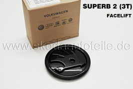 SKODA Emblem Logo BLACK (V o. H) - original - SKODA SUPERB II FACELIFT