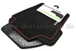 SET Fußmatten Velours Prestige Colour paket - original -SKODA FABIA III (6V)