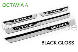 "Einstiegsleisten 3D Black ""OCTAVIA"" - original - SKODA OCTAVIA IV (NX)"