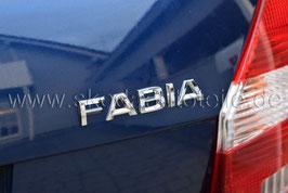 """Schriftzug Emblem Heckklappe """"FABIA"""" - Neues Modell - original"""