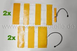 2x SET Heizelemente für Sitzheizung (Sitzfläche+Rückenlehne) - original - SKODA OCTAVIA II