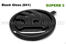 SKODA Emblem Logo BLACK GLOSS (hinten) - original - SKODA SUPERB III